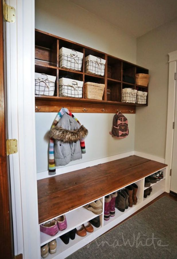 rustic mudroom ideas - 11. Mudroom Ideas Filled with Cubbies - Harptimes.com