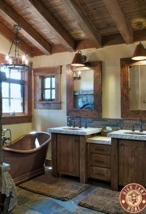 Barn Wood Interior for Small Rustic Bathroom Ideas - Harptimes.com