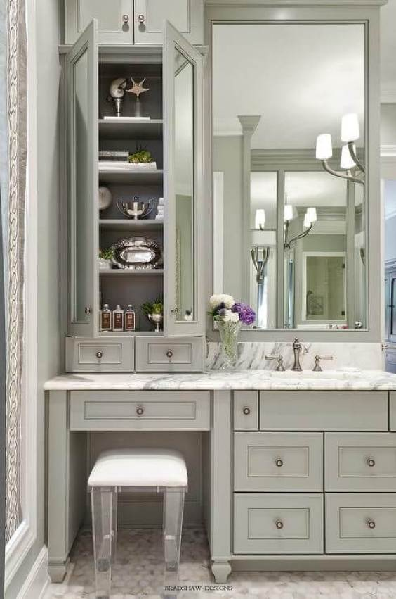 Bathroom Cabinet Ideas Gray Colonial Bathroom Cabinet - Harptimes.com