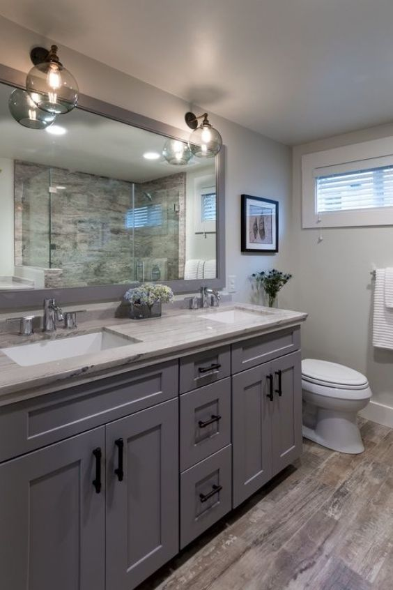Bathroom Cabinet Ideas Gray and White Bathroom with Cabinets - Harptimes.com