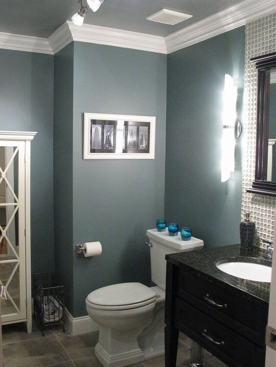 Bathroom Color Paint Ideas A Dark-Colored Bathroom Wall - Harptimes.com