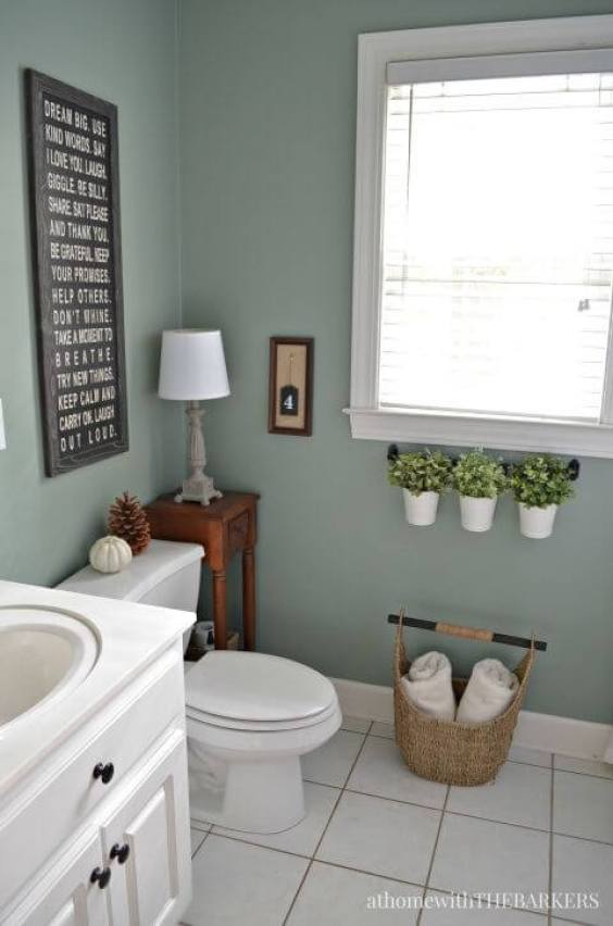 Best Blue Paint Color For Small Bathroom