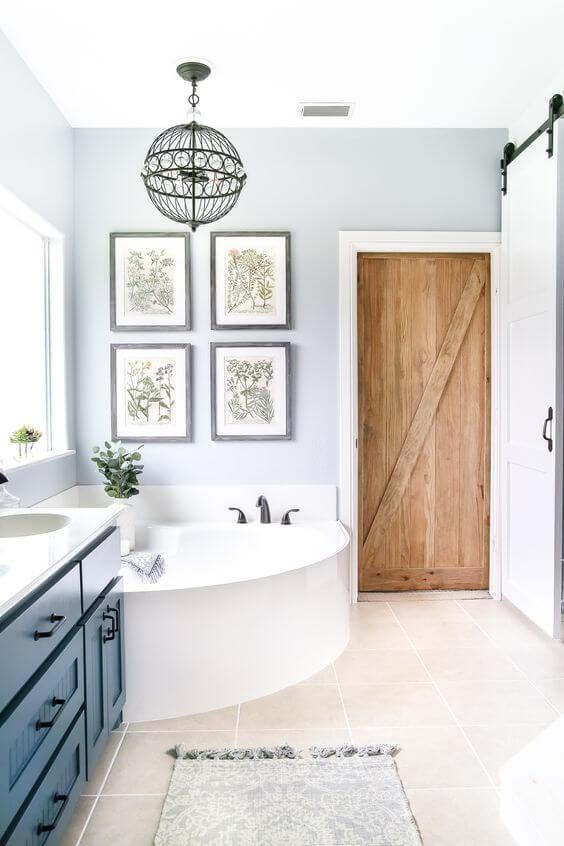 Bathroom Color Paint Ideas Industrial Bathroom Style with Barn Wood Door - Harptimes.com