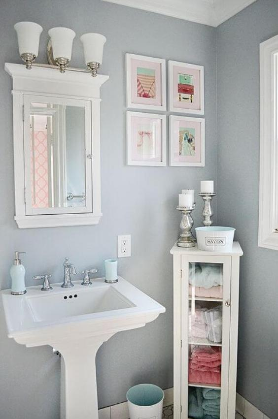 27 Cool Bathroom Paint Color Schemes | Best Ideas for 2019