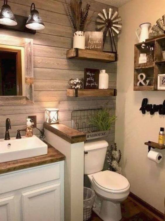 Bathroom Storage Ideas Rustic Farmhouse Decor - Harptimes.com