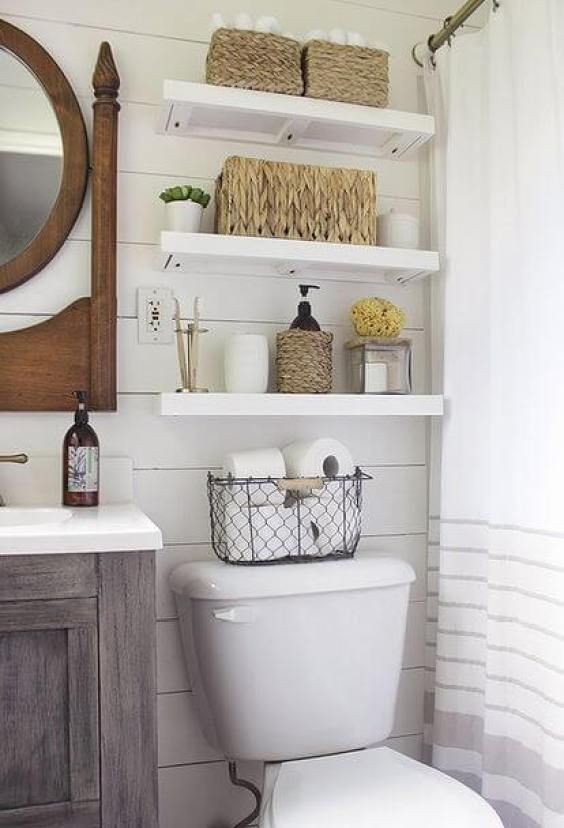 Bathroom Storage Ideas Stacks on Stacks Bathroom Shelves - Harptimes.com