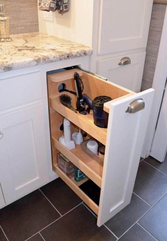 Bathroom Storage Ideas Storage for Hair Dryer - Harptimes.com