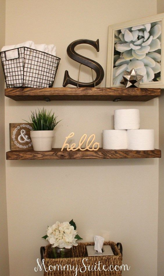 Bathroom Wall Decor Accessories to Have On Bathroom Shelves - Harptimes.com