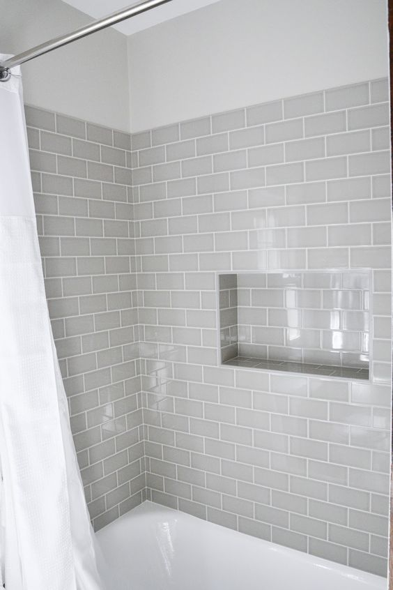 Bathroom Wall Decor Gray Bathtub Wall Tile - Harptimes.com