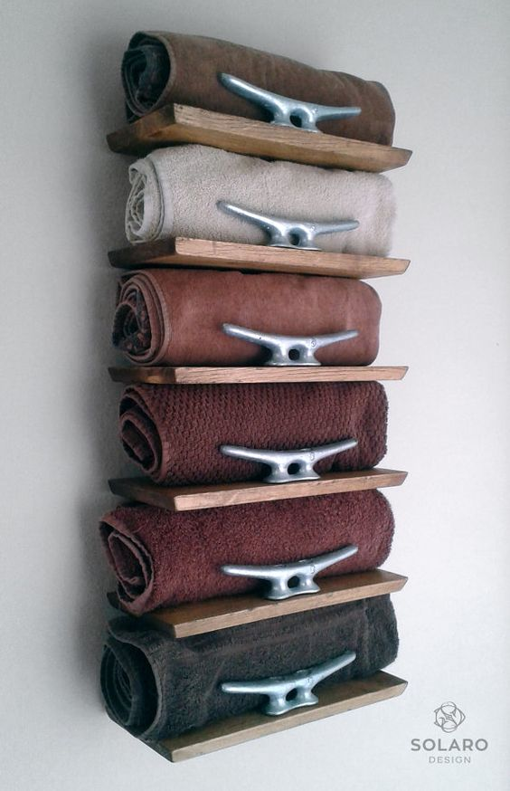 Bathroom Wall Decor Neat Towel Shelves - Harptimes.com