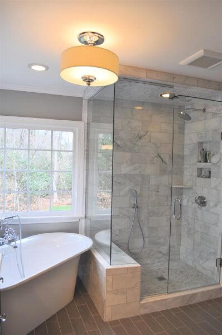 Fabric Pendant Light for Master Bathroom Ideas