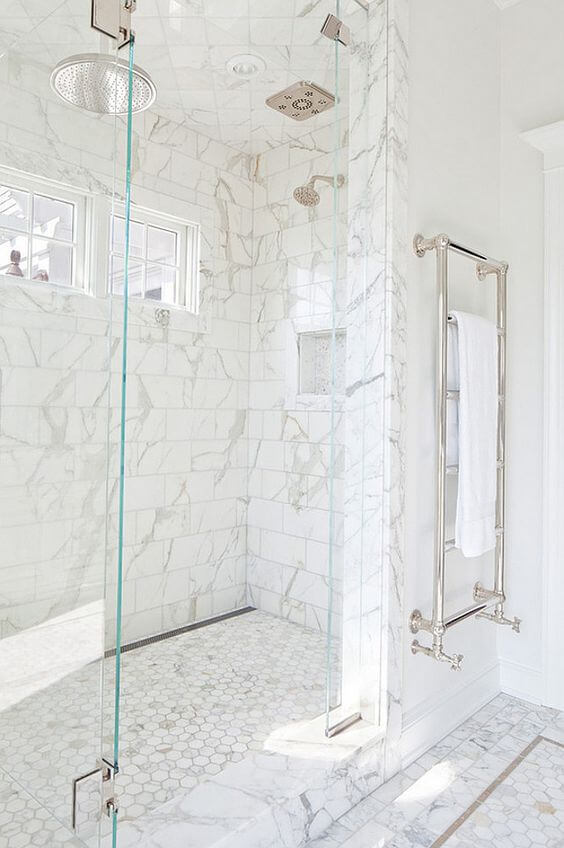 Marble Tile for Walk In Shower Tile Ideas - Harptimes.com