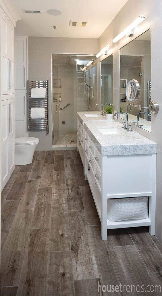 Master Bathroom Ideas Wood Board Flooring - Harptimes.com