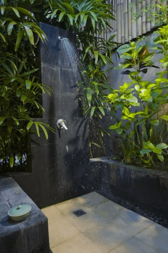 Outdoor Shower Ideas Botanical Outdoor Bathroom Design - Harptimes.com