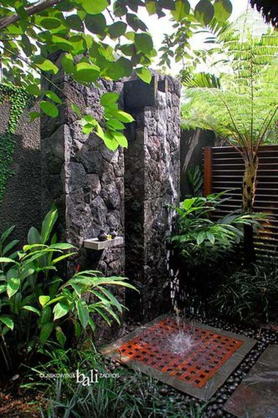 Outdoor Shower Ideas Garden in Bali - Harptimes.com