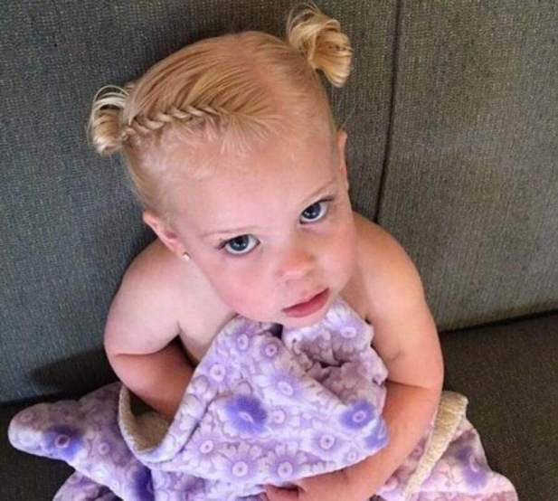 Baby Cute Hairstyles with Two Knots