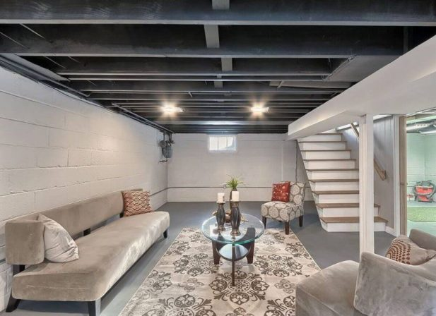 Basement Wall Ideas Exposed Ceiling