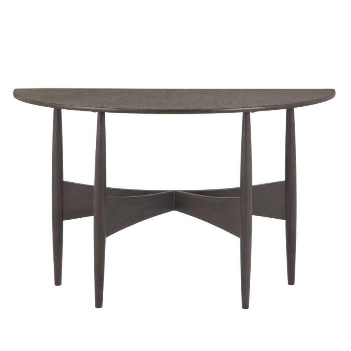 Black Half-Rounded Sofa Table Decor Ideas