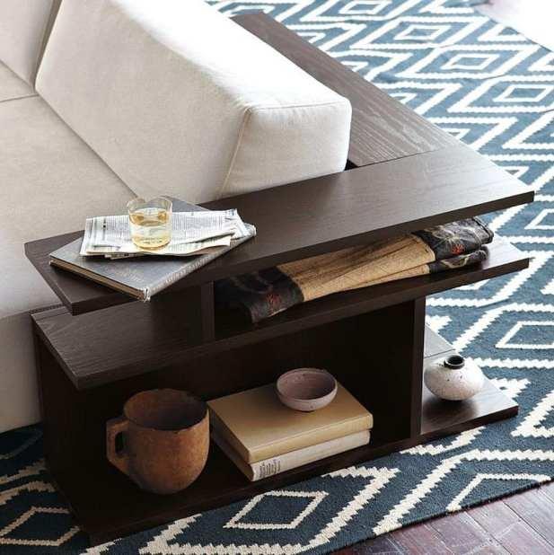 Bookshelf Corner Sofa Table Decor Ideas