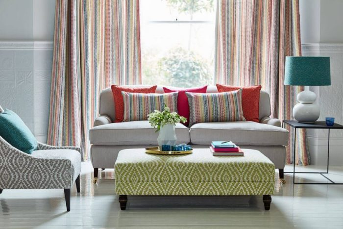 Curtains Living Room Ideas with Stripe Patterns