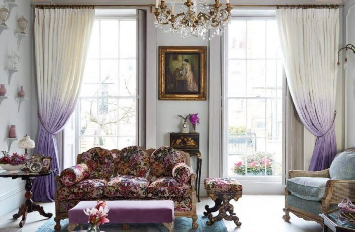 Georgian Curtains Living Room Ideas with a Parisian Feel - Harptimes.com