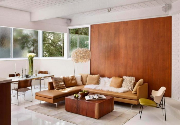 Modern Wood Accent Wall Ideas for Living Room