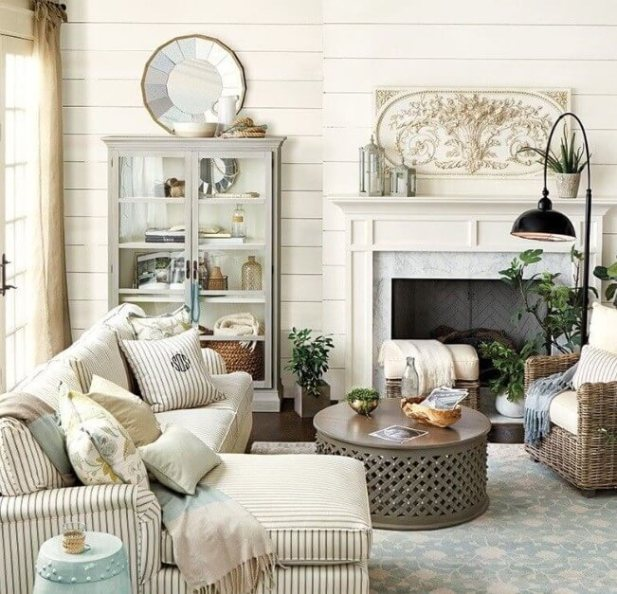 Neutral Farmhouse Living Room Decor Ideas