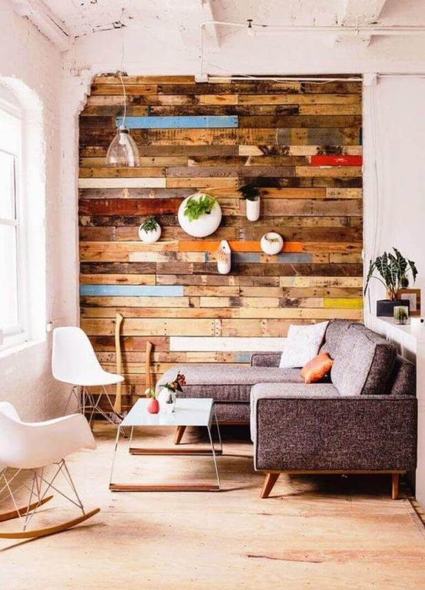 Reclaimed Wood Wall with Reclaimed Wood Ideas