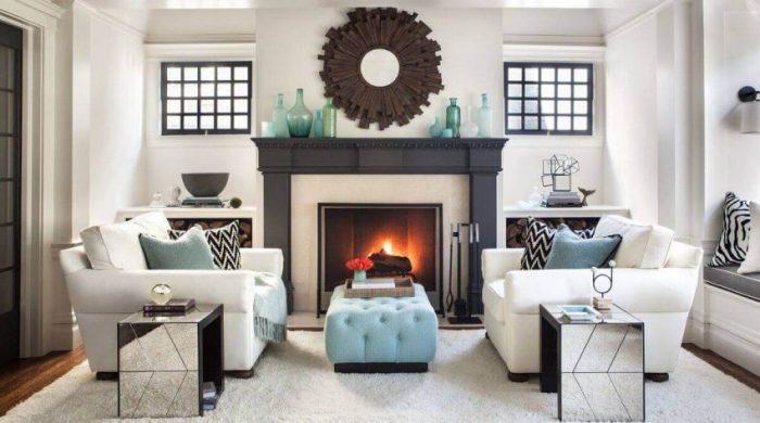 Symmetrical Furniture Setting for Living Room Decor Ideas