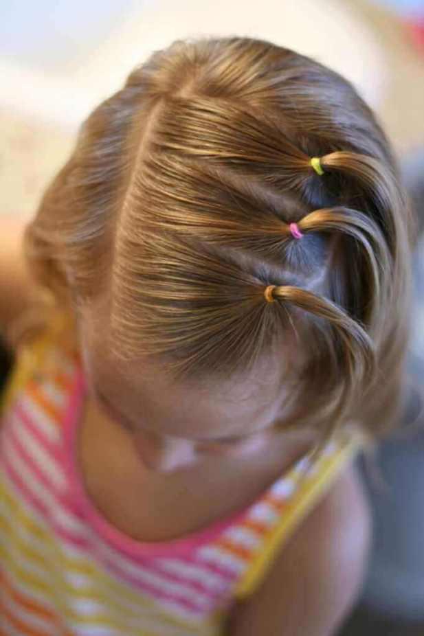 Triple Side Ponies for Medium Hair