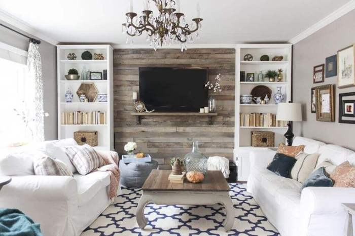 Wood Accent Wall behind TV