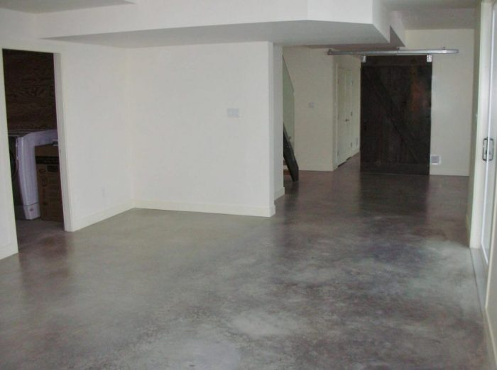 Concrete Flooring for Basement Paint Ideas