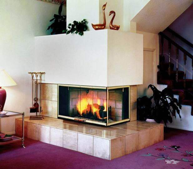 Corner Fireplace Ideas in Advanced Electric