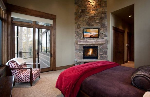 Corner Fireplace Ideas in Master Bedroom Style
