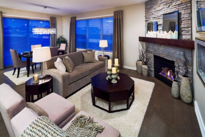 Corner Fireplace Ideas in Subdivide the Living Room