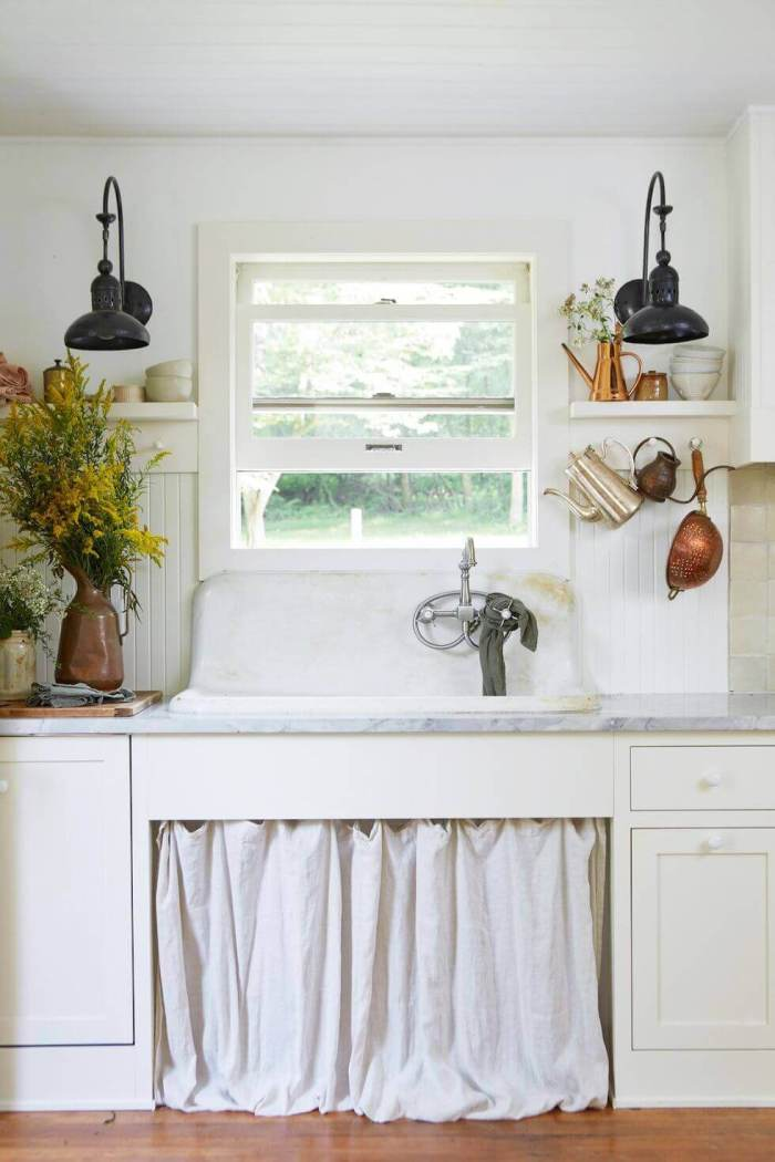 Small Kitchen Storage Ideas ikea Hang a Curtain to Hide Things
