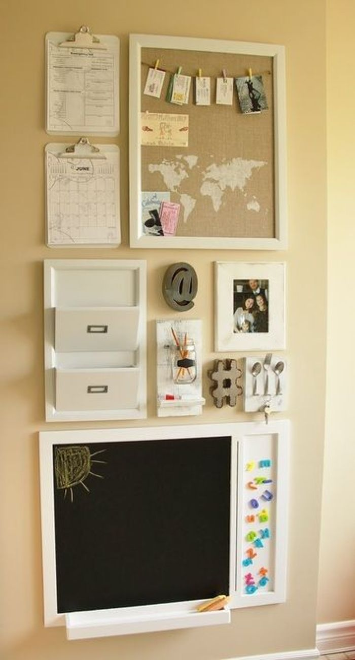 Cork Board Ideas with World Map and Picture Hanger - Harptimes.com