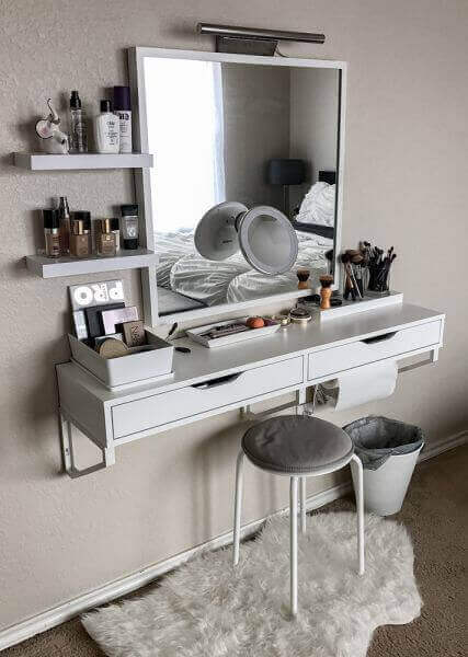 Simple Makeup Room Ideas Pinterest Floating Dressing Table