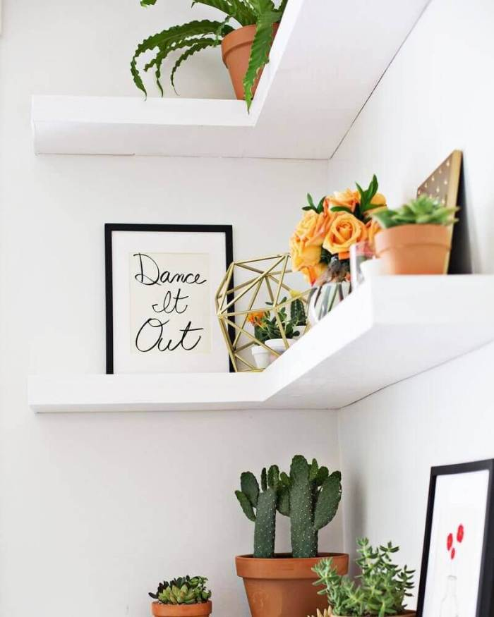 Floating Corner Wall Shelving Ideas