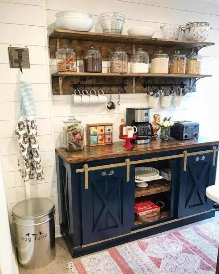 Feature Wall Shelving Ideas Coffee Bar