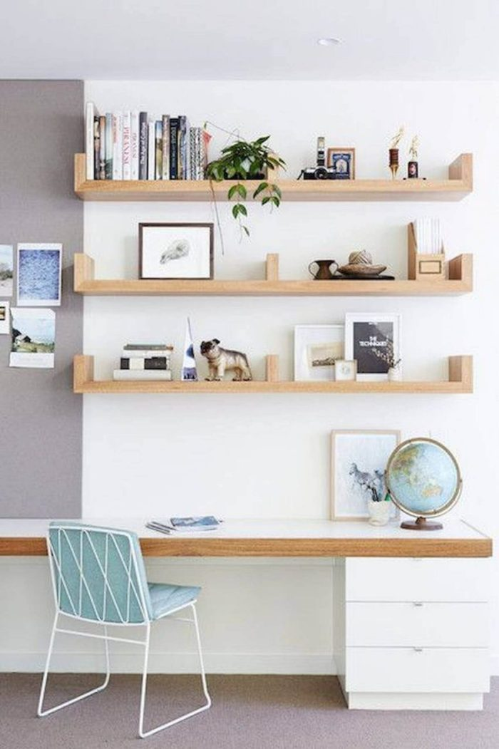 Full Wall Shelving Ideas for Office