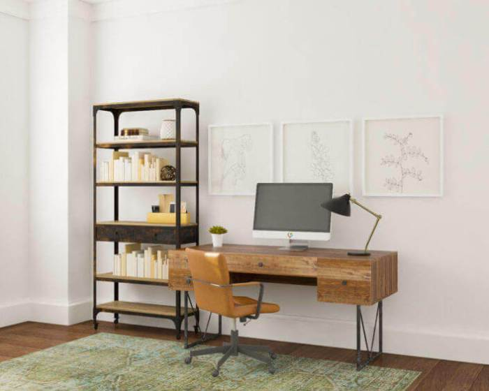 Grid-style Wall Gallery Ideas for Home Office