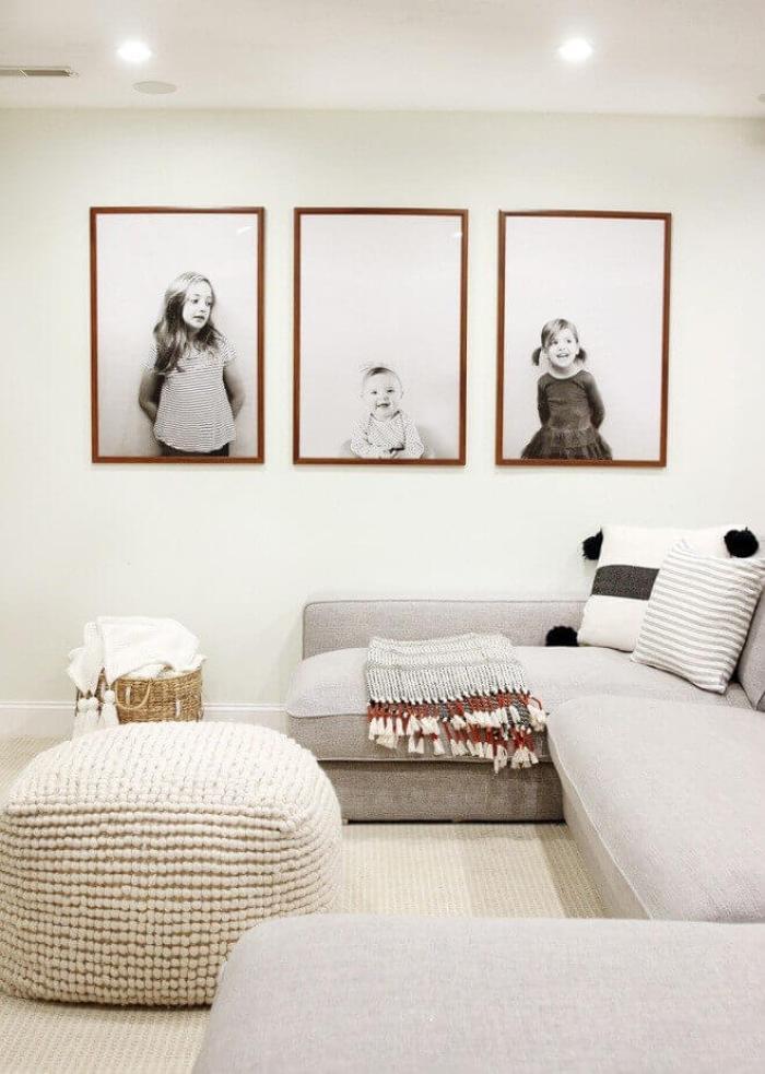 Minimalist Portraits as Wall Gallery Ideas