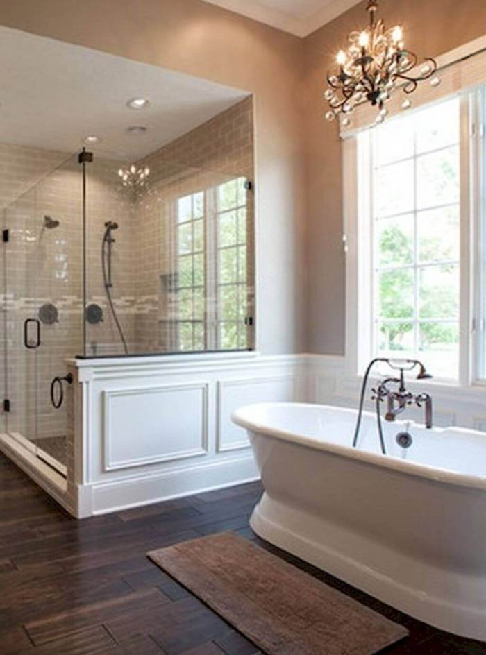 French Country Decor Bathroom with Nature Backdrop - Harptimes.com