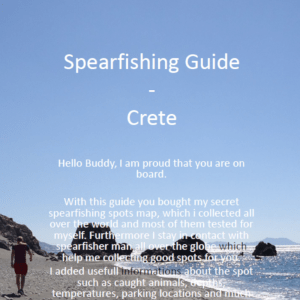 Spearfishing Crete Kreta Maps Guide Tutorial Spots Harpunieren Speargun GER