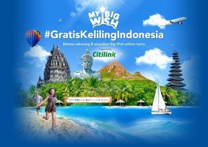 terbang gratis keliling Indonesia sepanjang tahun