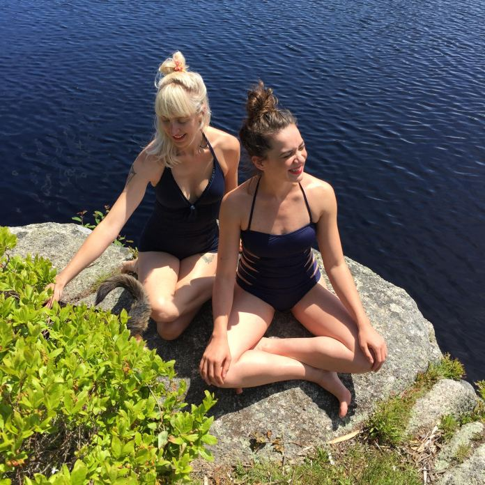 Harriet and Lacey at Tea Lake