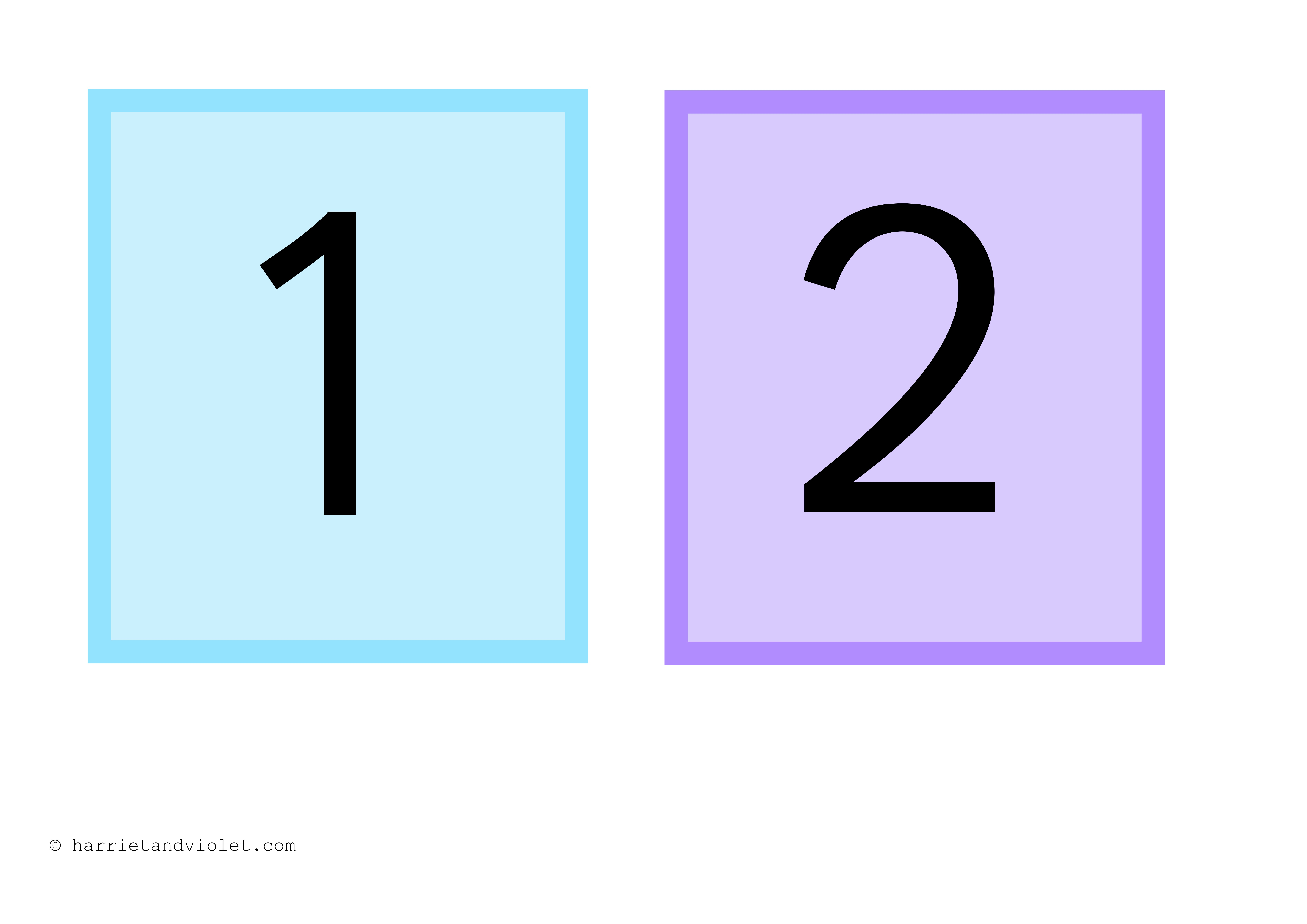 Numbers 1 20 Flashcards And Display