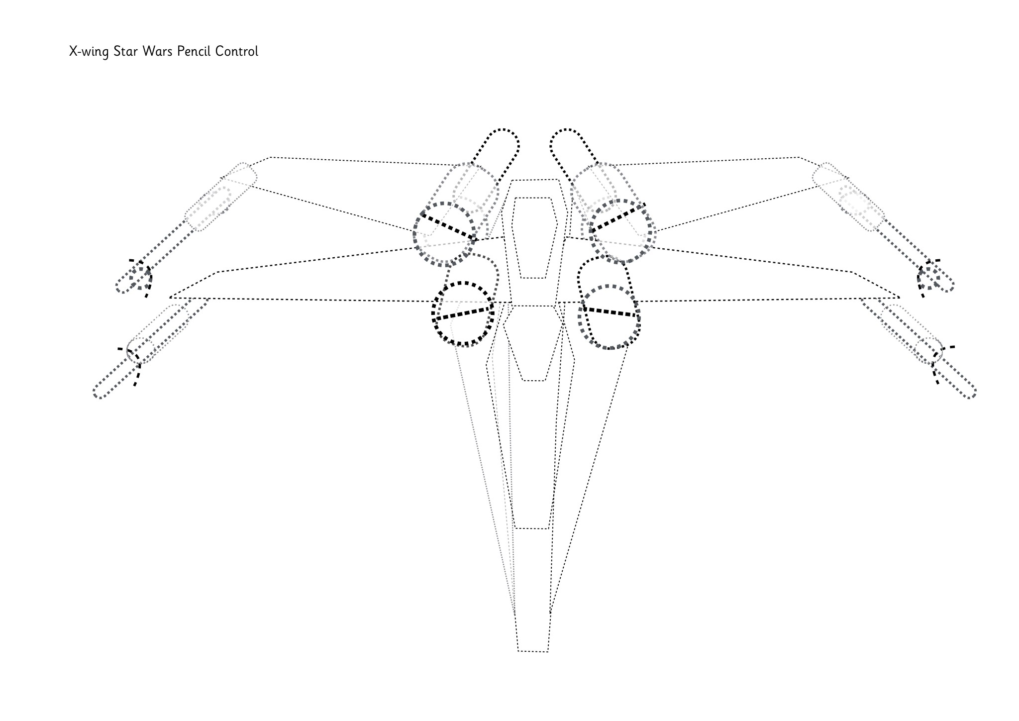 X Wing Star Wars Pencil Control Dot To Dot
