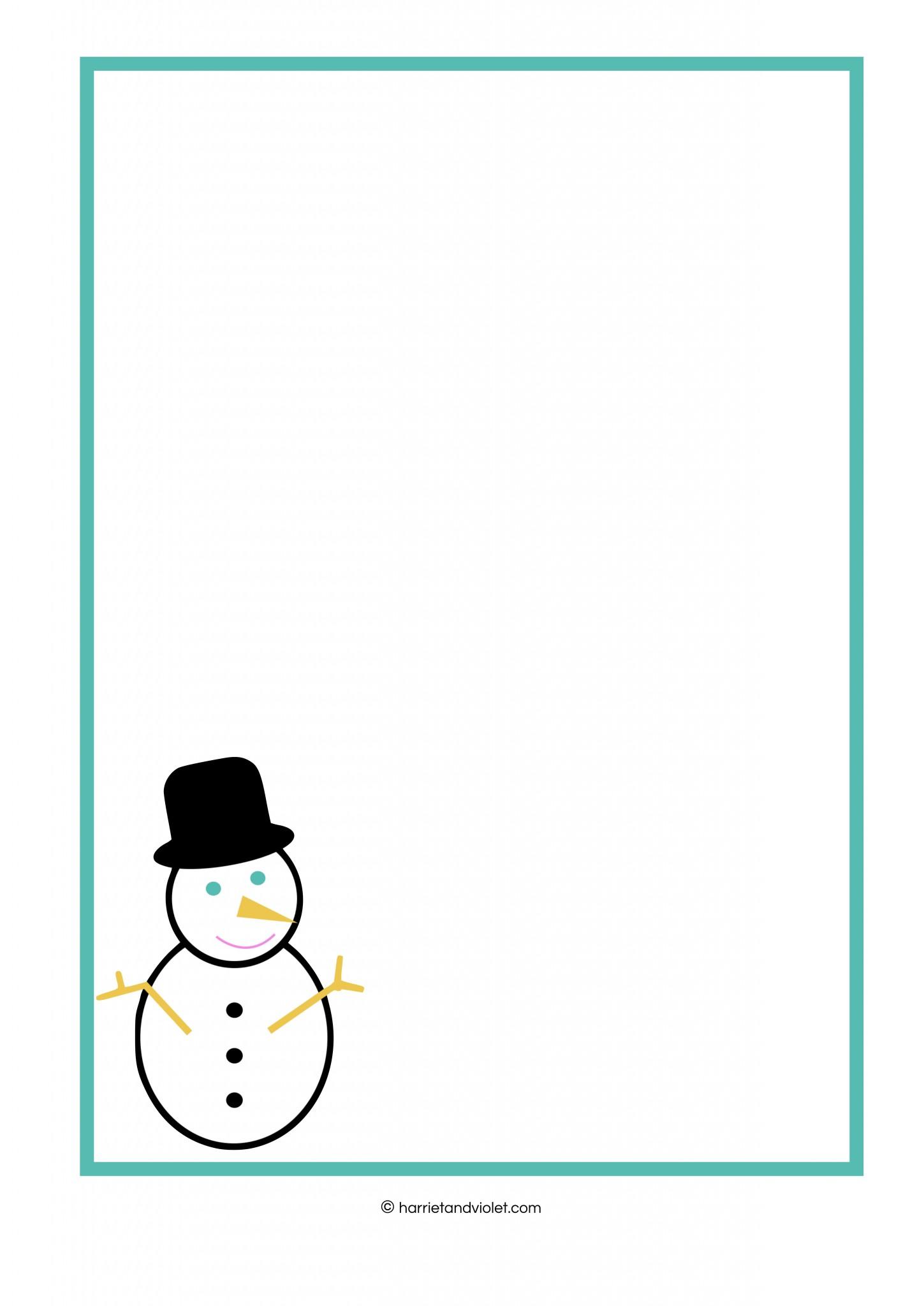 Snowman Christmas Border Paper Free Teaching Resources